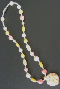 Collier fimo agrumes
